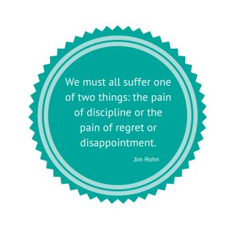 Some people regard discipline as a