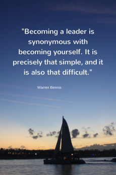 Becoming a leader is synonymous with