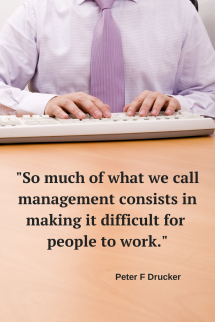 So much of what we call management