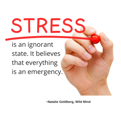 Stress is an ignorant state