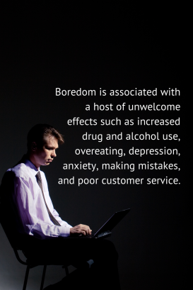 writes boredom is associated with a host