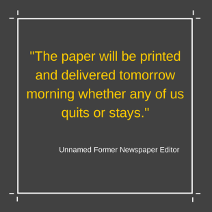 -the paper will be printed and delivered