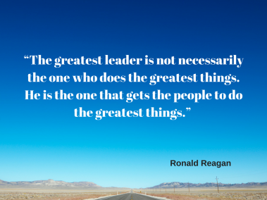 """The greatest leader is not necessarily"